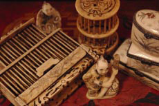 Chinese bone items, bone craft from china for decoration like netsuke