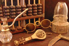 Chinese traditional Items, Opium Lamp, Old Iron, Padlocks, chinese pipes, wooden panels