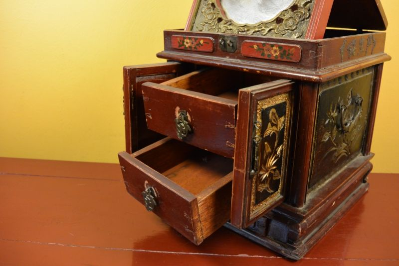 ancienne boite chinoise coffret maquillage. Black Bedroom Furniture Sets. Home Design Ideas