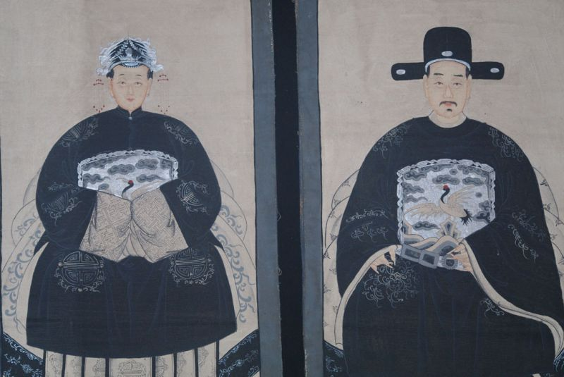 Couple d'ancêtres chinois Peinture Chinoise Morderne 2