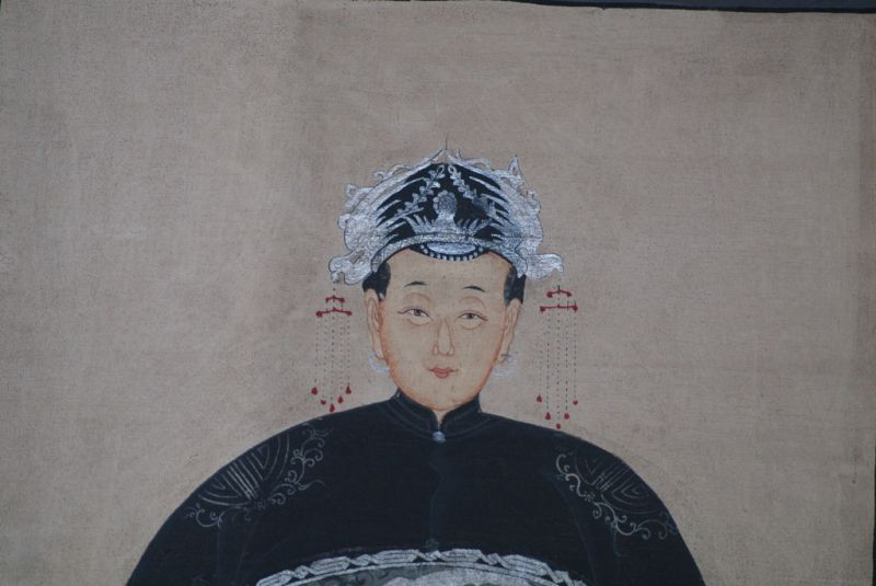Couple d'ancêtres chinois Peinture Chinoise Morderne 3