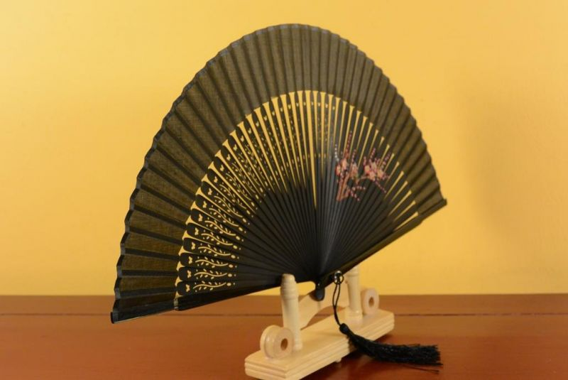 Eventail Noir Japonais Decoration