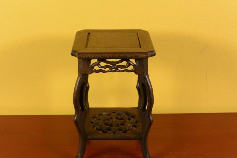 Chinese Wood stand - Chinese table - Wood Stele L