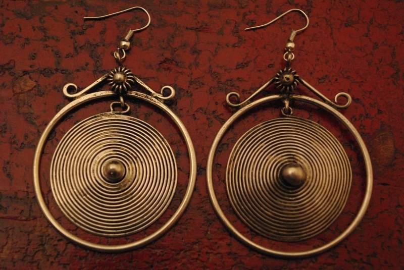 Boucles d'oreilles ethnique Spirale de vie Miao