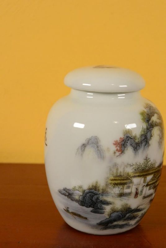 Small Chinese Porcelain Potiche - Colorful - Landscape 2