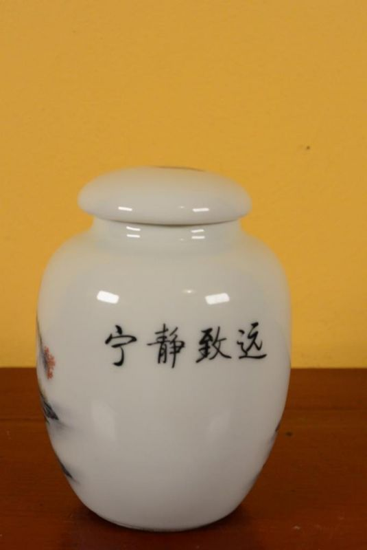 Small Chinese Porcelain Potiche - Colorful - Landscape 3