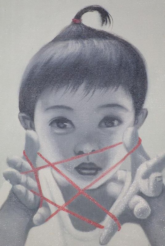 Chinese Painting on Canvas - Contemporary Artist Zhu Yiyong - Young lady 2