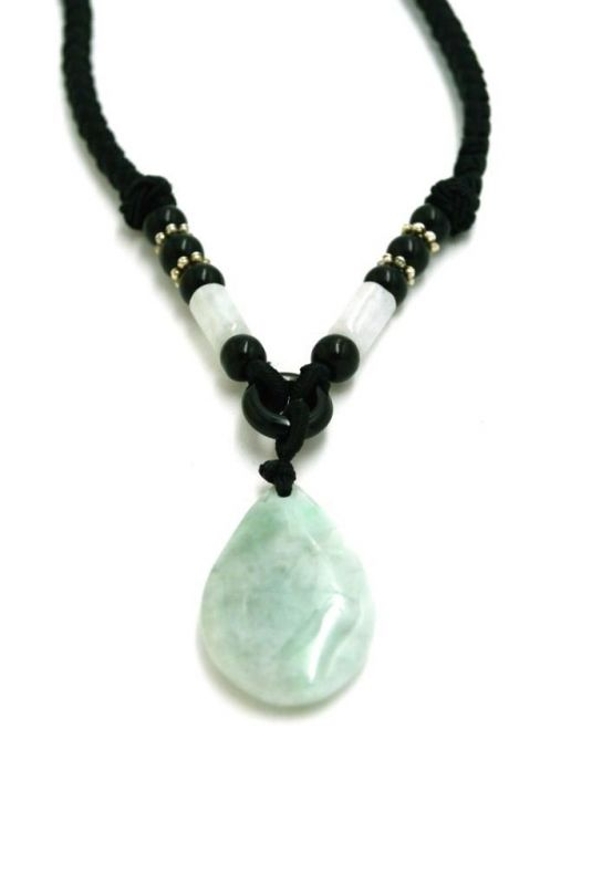 Necklace with Jade pendant Buddha tear 2