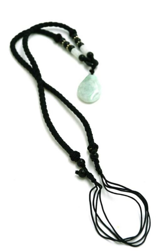 Necklace with Jade pendant Buddha tear 3