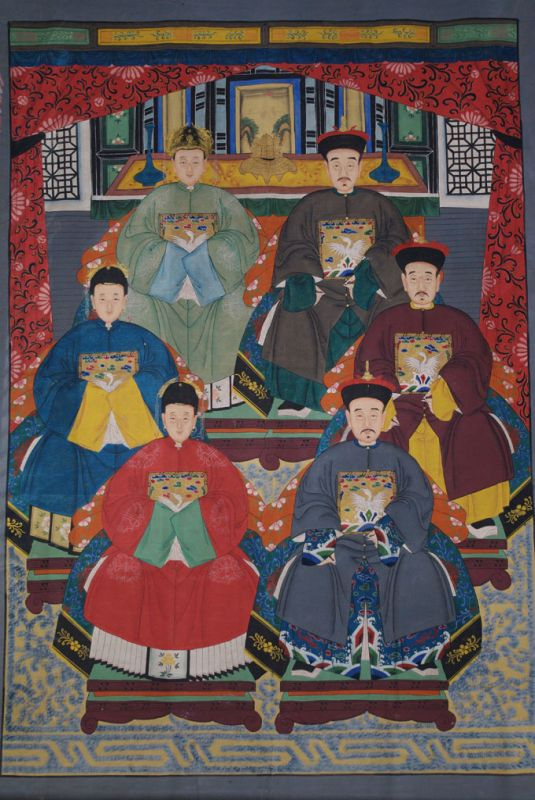 Very Large Chinese dignitaries family 6 People