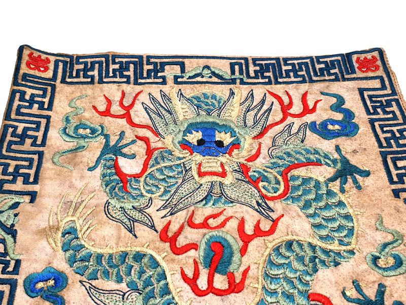 Chinese Embroidery - Square Ancestor - Emblem - Dragon 2