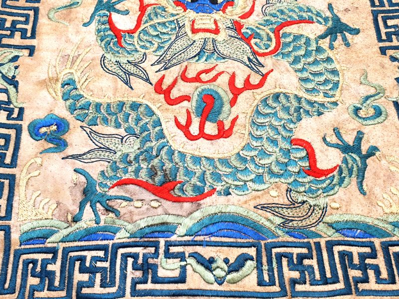 Chinese Embroidery - Square Ancestor - Emblem - Dragon 3