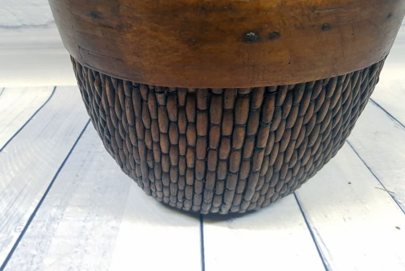 Old Chinese box braided by hand - Basket weaving - Old little basket 3