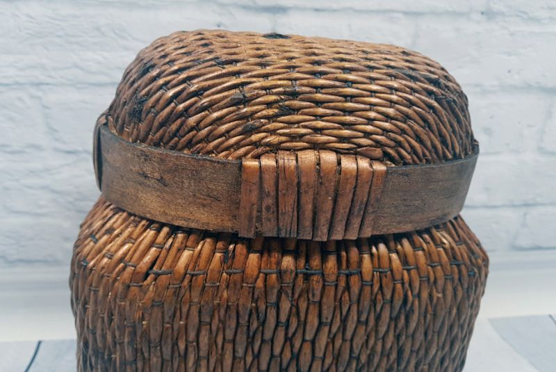 Old small Chinese braided box - Basketry 2