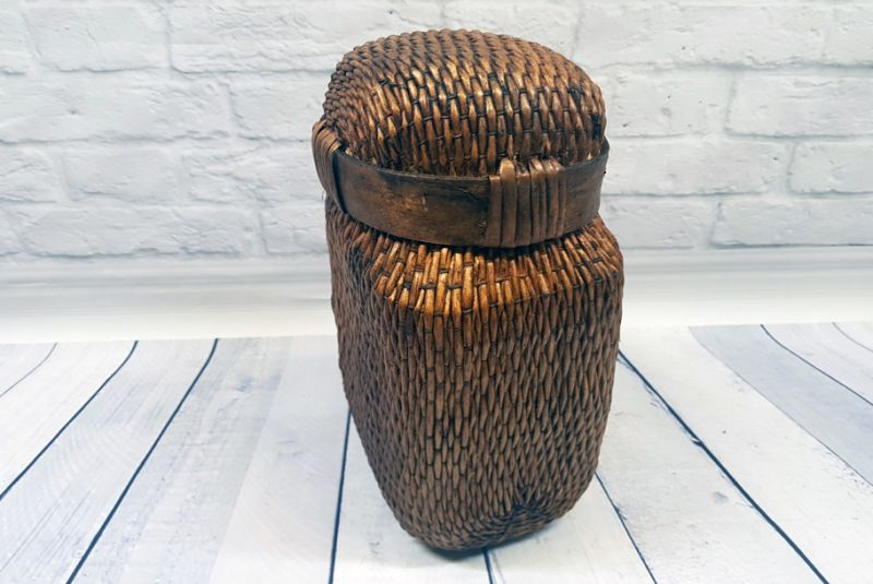 Old small Chinese braided box - Basketry 4
