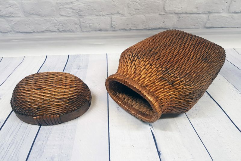 Old small Chinese braided box - Basketry 5