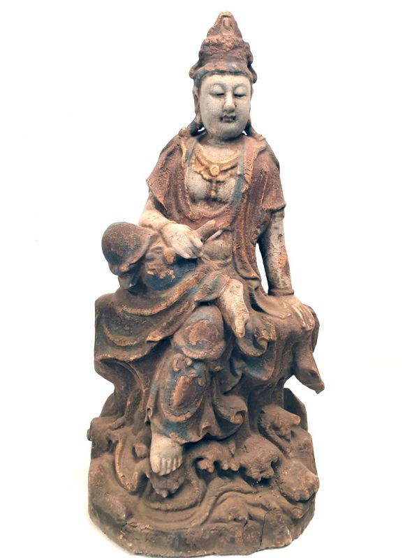 Chinese Wooden Statue Goddess