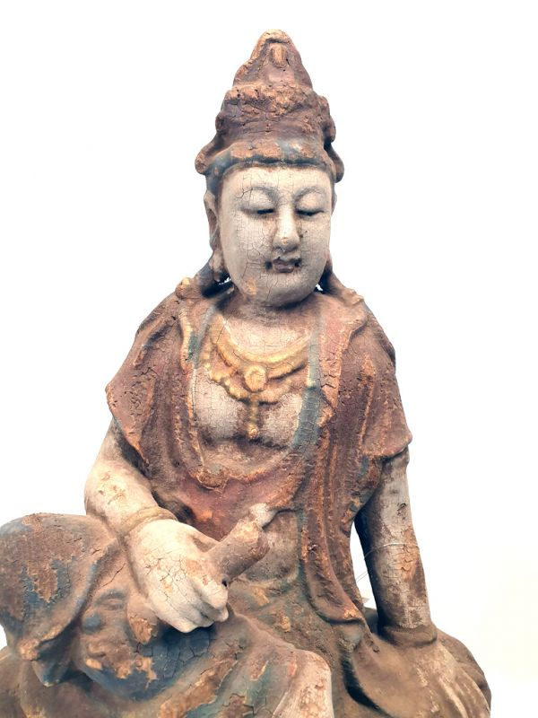 Chinese Wooden Statue Goddess 2