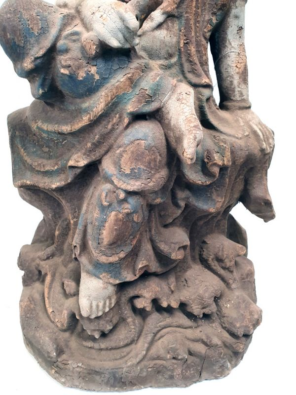 Chinese Wooden Statue Goddess 3