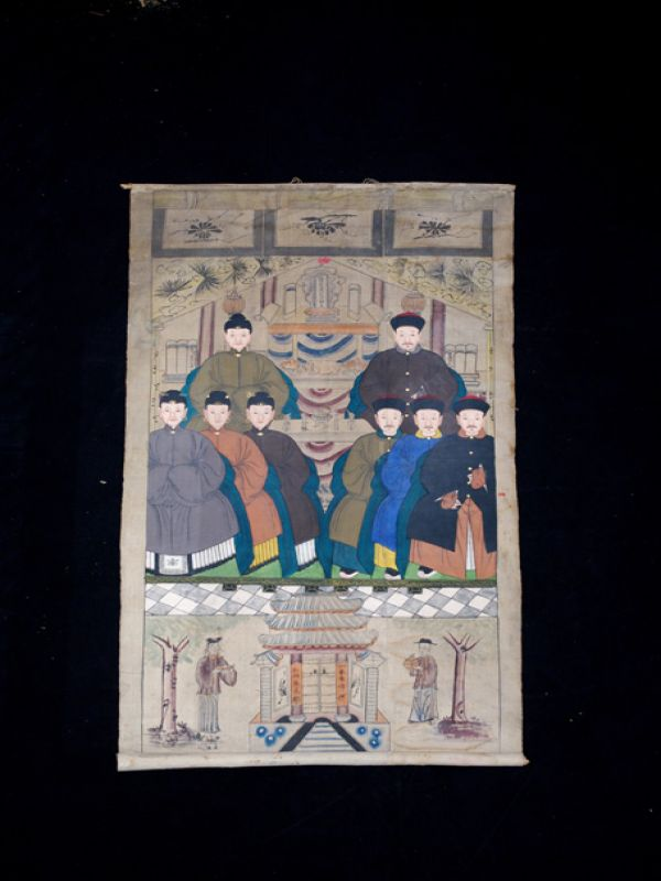 Old Chinese Chinese Ancestor Painting - Ancient Asian painting 2