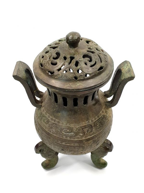 Chinese Bronze Box - temple censer 2