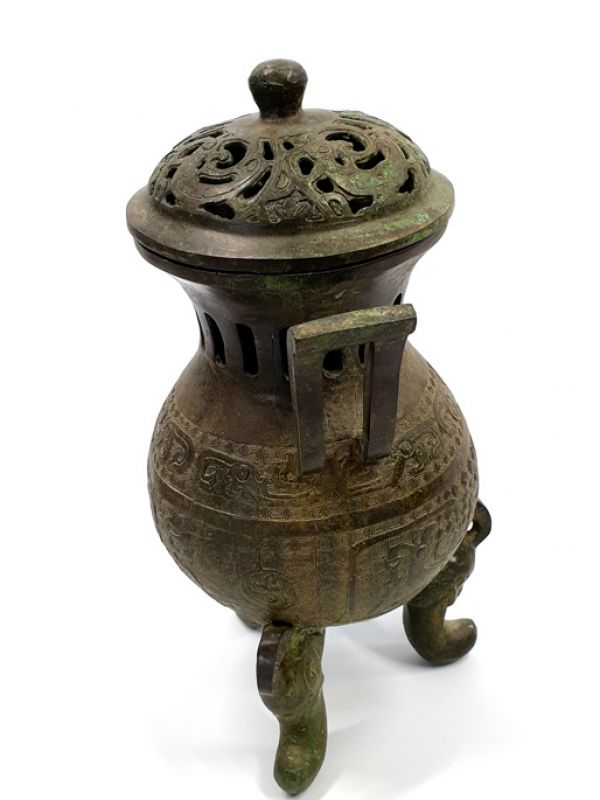 Chinese Bronze Box - temple censer 3