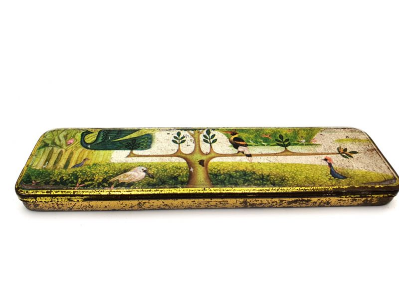 Old Chinese pencil boxes - The forest of birds 2