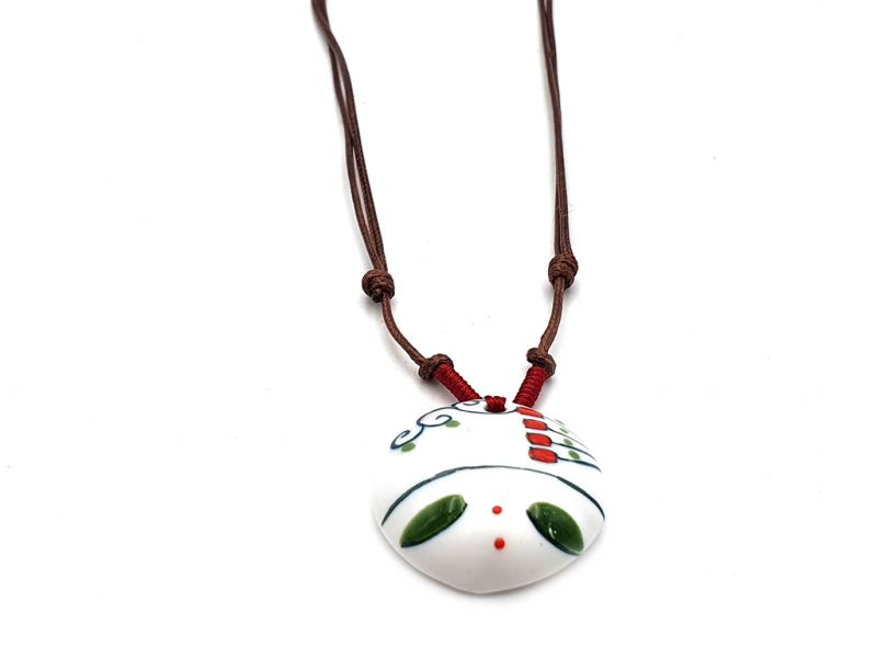Asian ceramic heads collection - Necklace - Laos 2