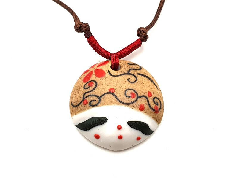 Asian ceramic heads collection - Necklace - Japan - Osaka