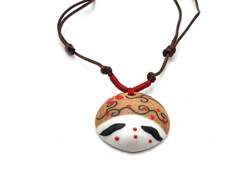 Asian ceramic heads collection - Necklace - Japan - Osaka 2