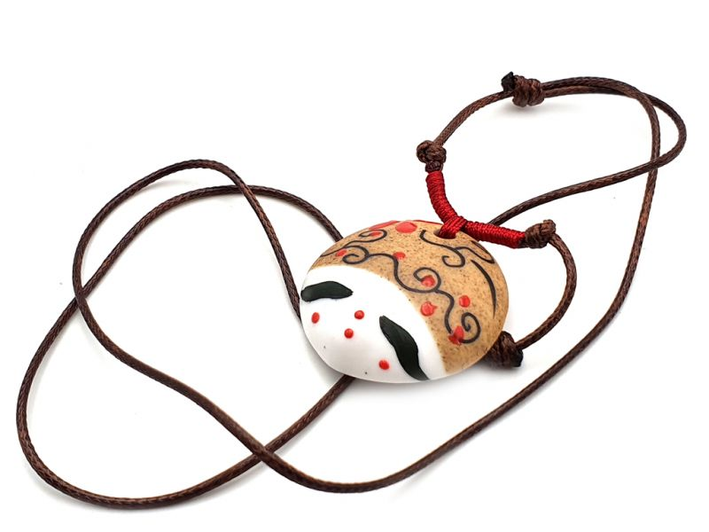 Asian ceramic heads collection - Necklace - Japan - Osaka 3