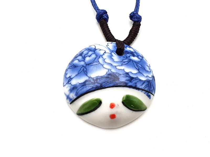 Asian ceramic heads collection - Necklace - India - Rajasthan