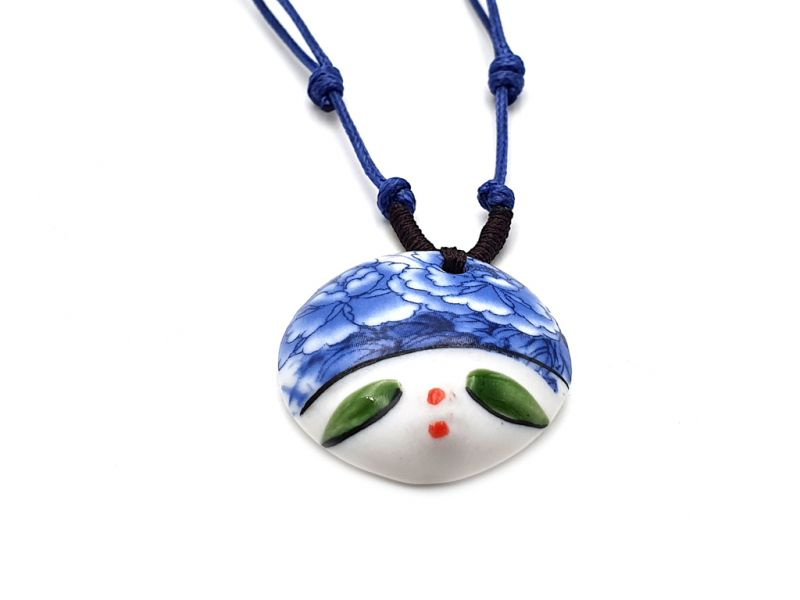 Asian ceramic heads collection - Necklace - India - Rajasthan 2