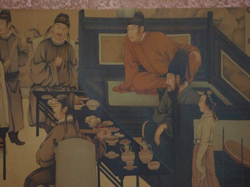 Chinese Painting Night Revels of Han Xizai part 3 3