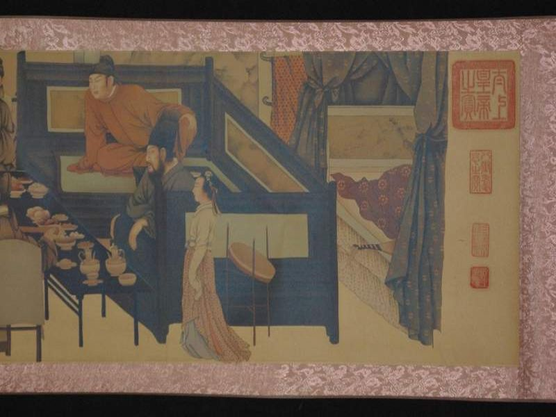 Chinese Painting Night Revels of Han Xizai part 3 4