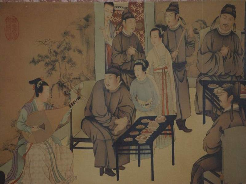 Chinese Painting Night Revels of Han Xizai part 3 5