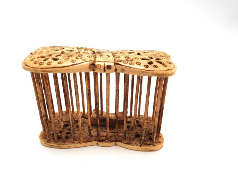 Chinese cricket cage in bone Dragonfly 2
