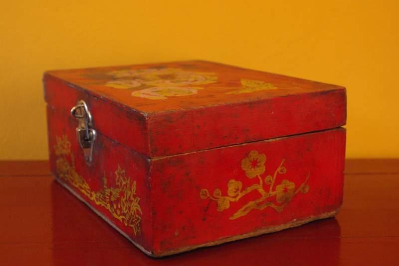 Boite en bois d coration chinoise poque mao - Decoration boite en bois ...