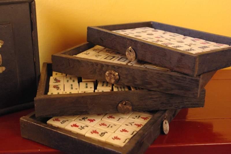 Objets populaires divers ancien jeu de mahjong for Acheter miroir ancien
