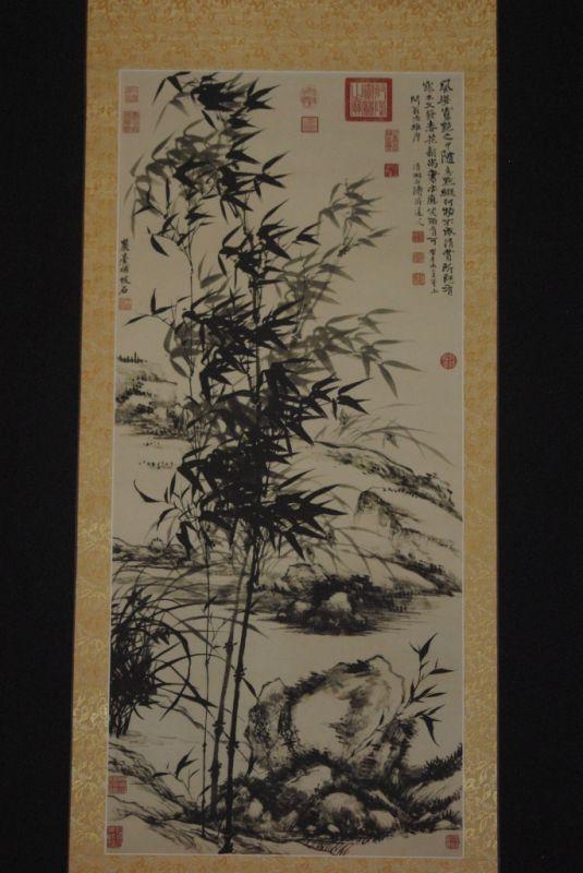 Bambou chinois sur papier de soie for Peinture sur papier