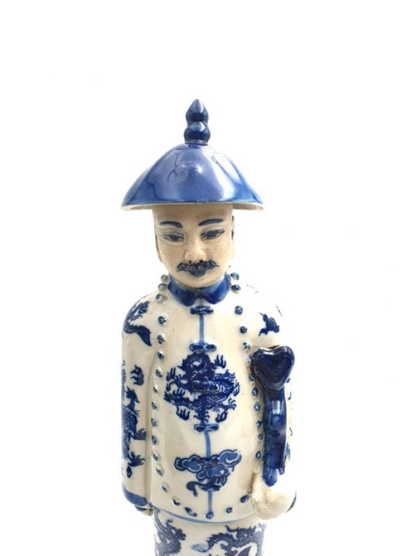 Chinese Adult Mandarin Statue in Porcelain 2