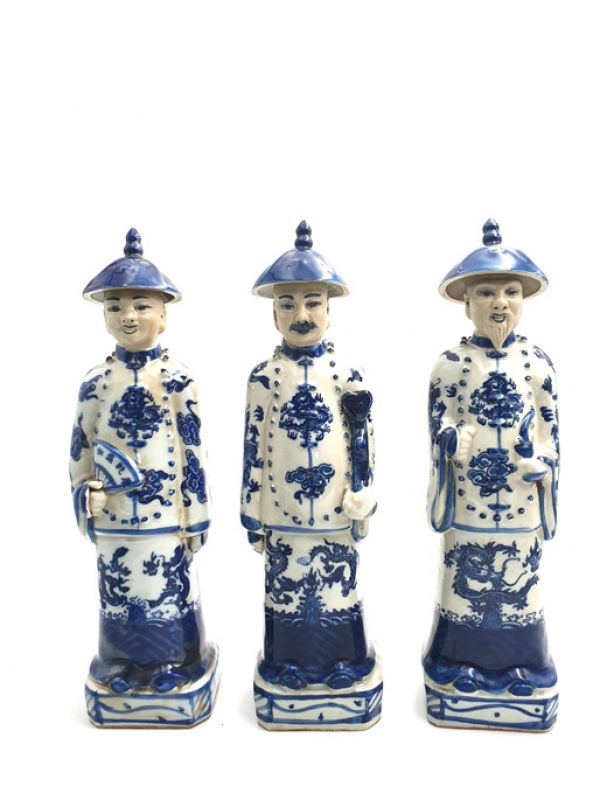 Chinese Adult Mandarin Statue in Porcelain 5