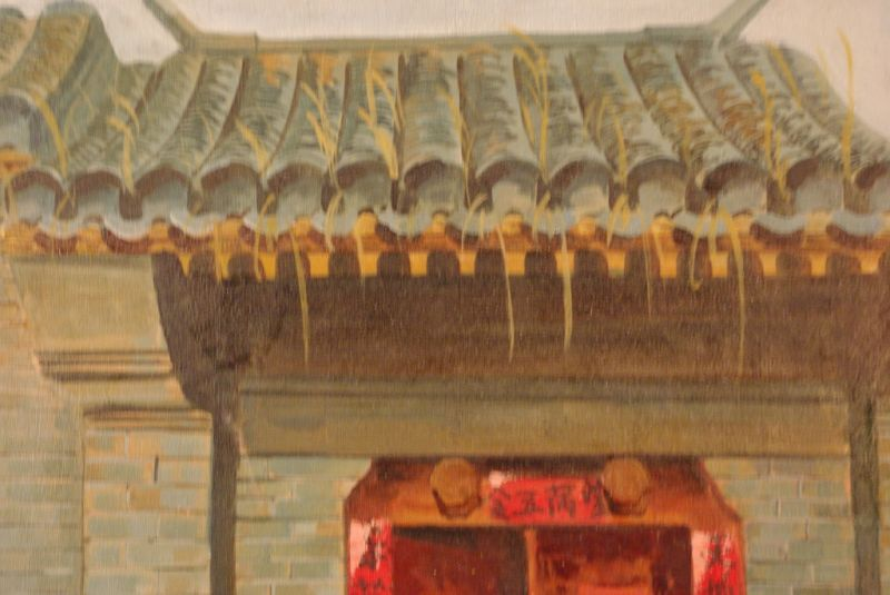 chinesische lgemaldes auf leinwand hutong. Black Bedroom Furniture Sets. Home Design Ideas