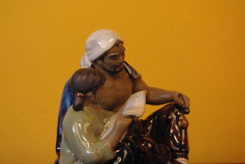 Chinese revolution bisque pottery statue 4