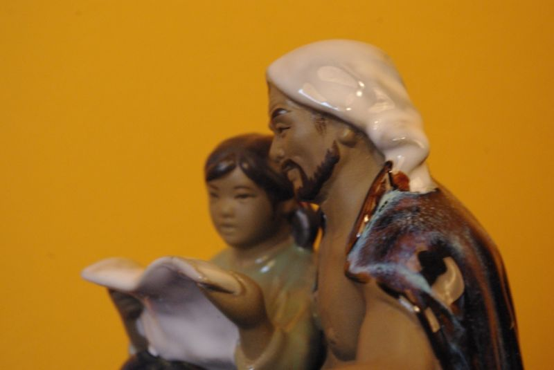 Chinese revolution bisque pottery statue 5
