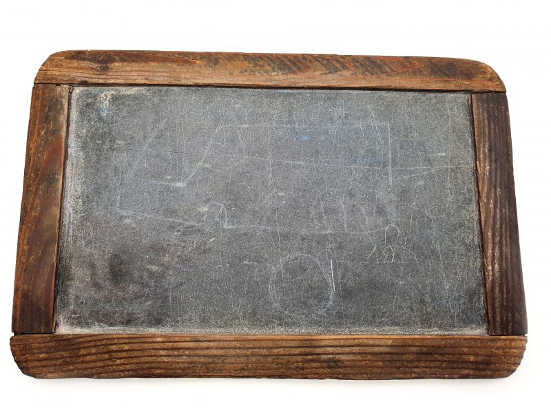 Small Antique School Slate