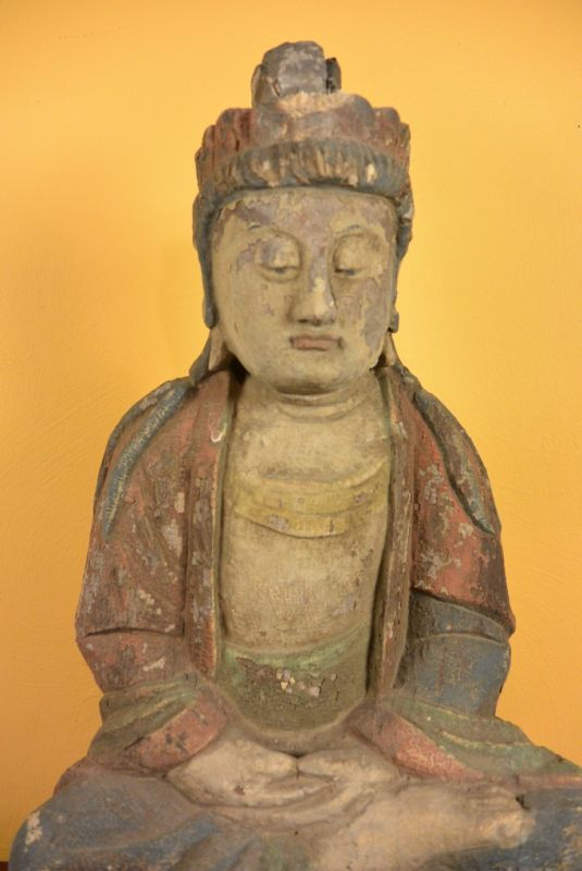 Chinesische holz buddha statue for Buddha statue holz