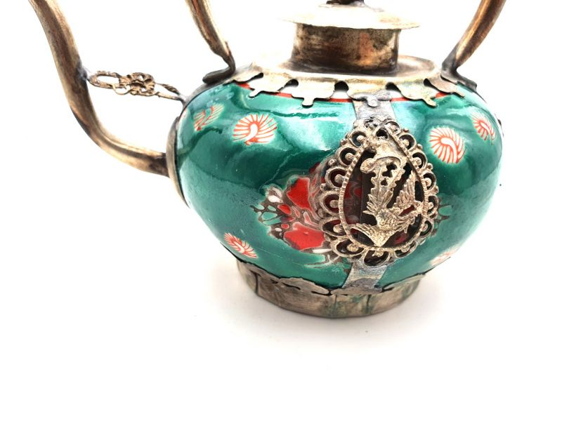 Chinese Porcelain Teapot Green 2
