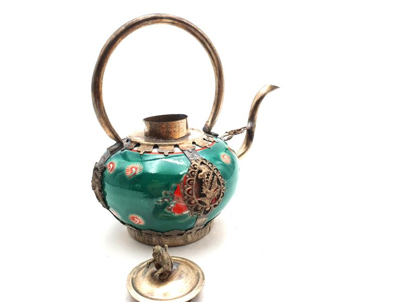 Chinese Porcelain Teapot Green 4