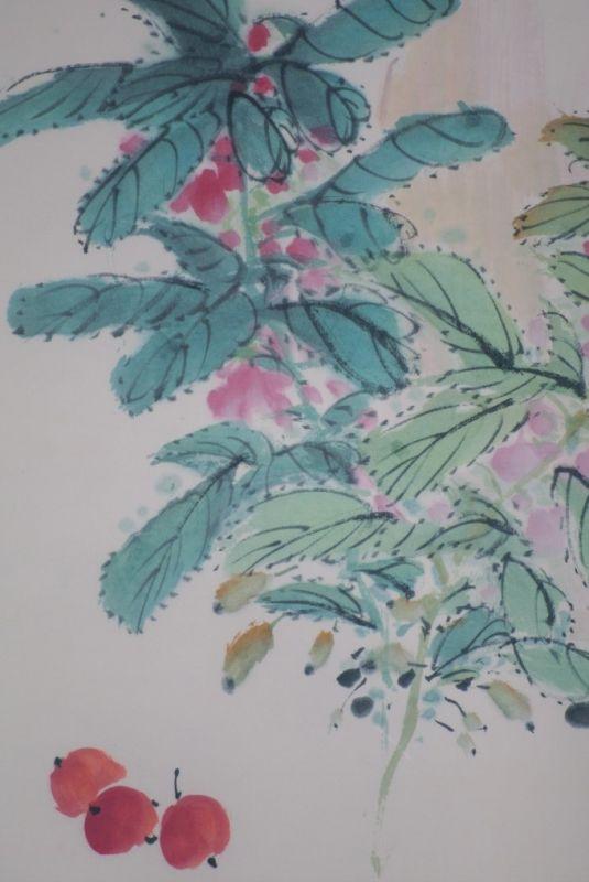 chinesische malerei aquarell auf seide pfingstrose. Black Bedroom Furniture Sets. Home Design Ideas